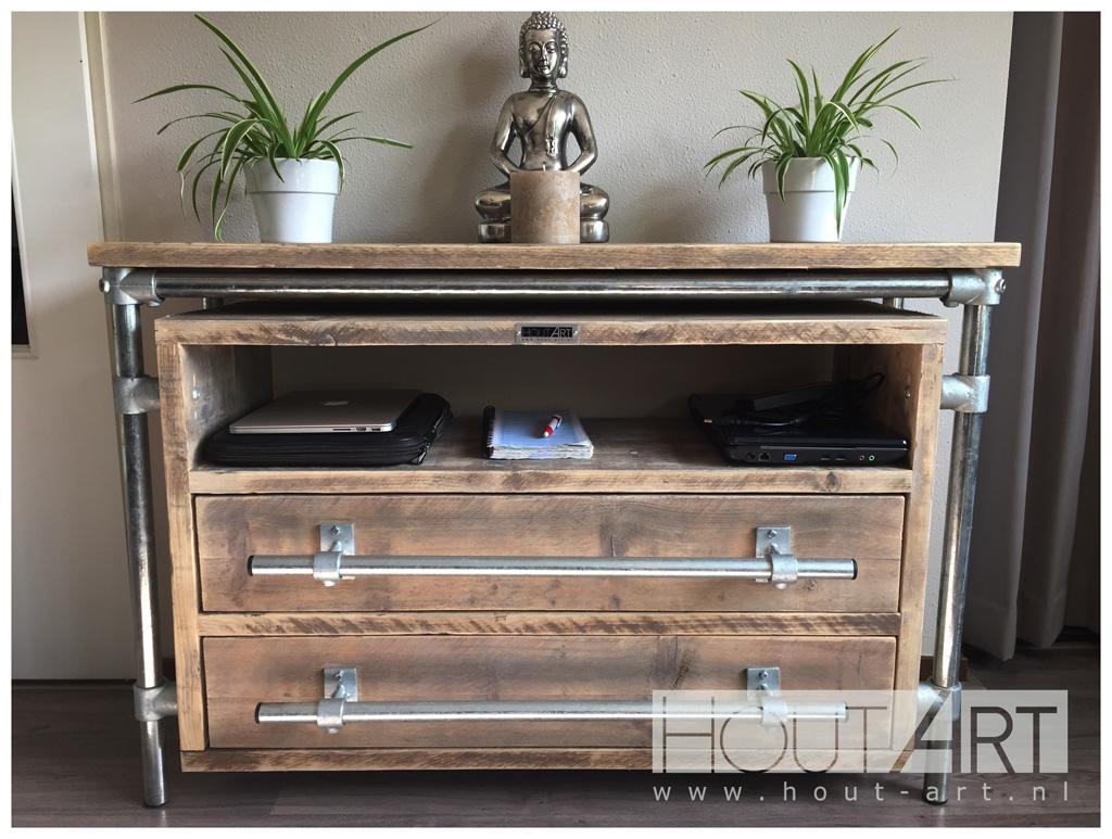 top decoratie boekenkast dressoirs kast revento met lades steigerbuis with boekenkast steigerbuis