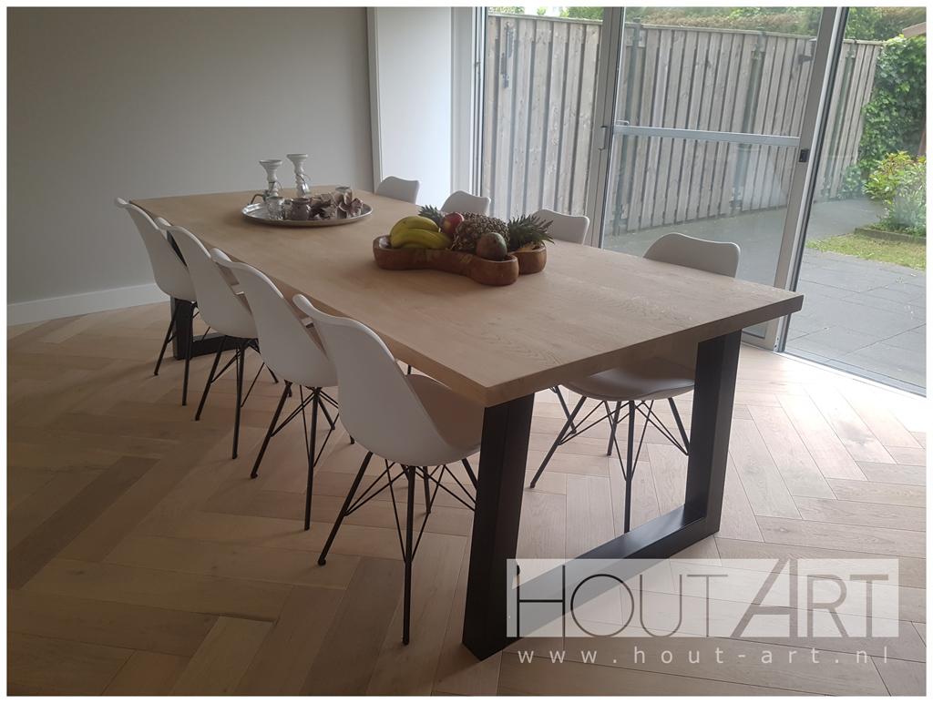 Tafel Hout Staal : Eettafel hout staal perfect industrile tafel met een rustiek