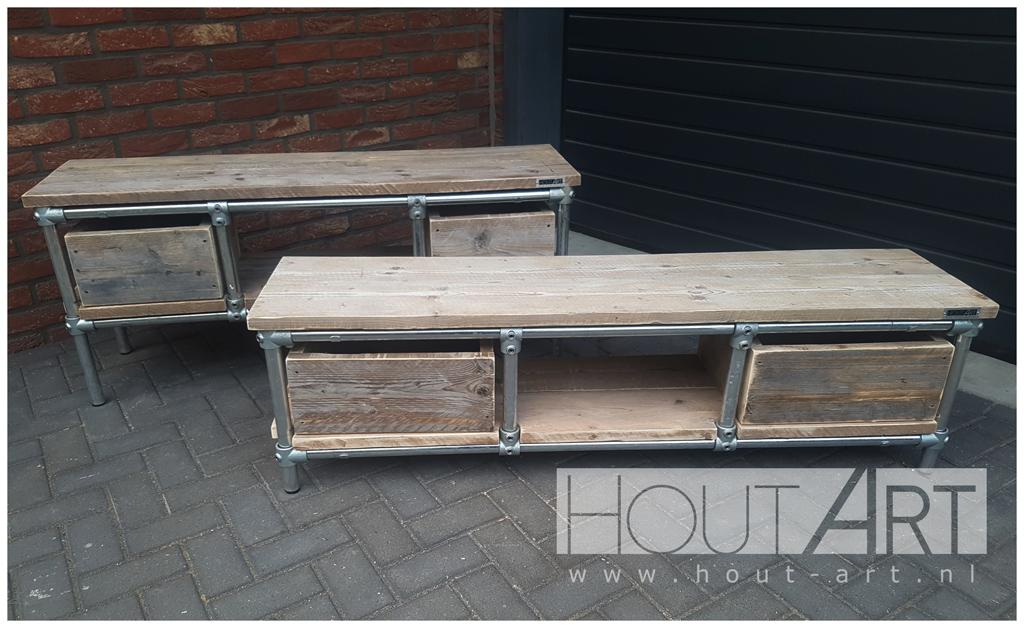 Meubels Met Steigerbuizen : Tv meubels: tv meubel lorenz plus steigerbuis met steigerhout