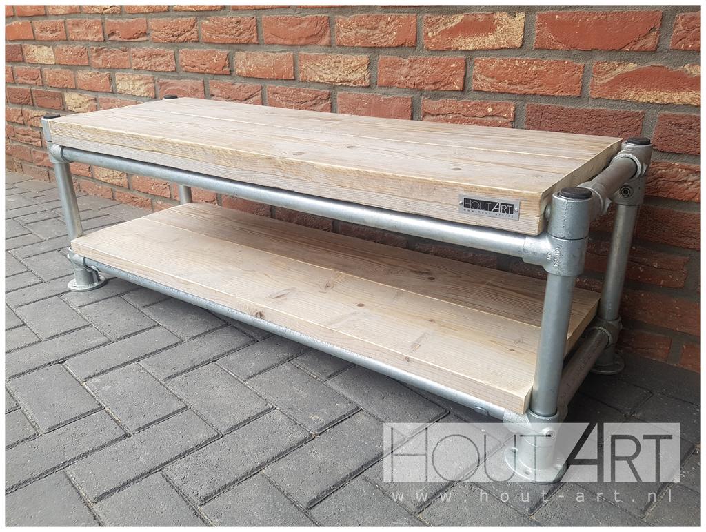 Luxe Tv Meubel : Tv meubels tv meubel luxe steigerbuis met steigerhout