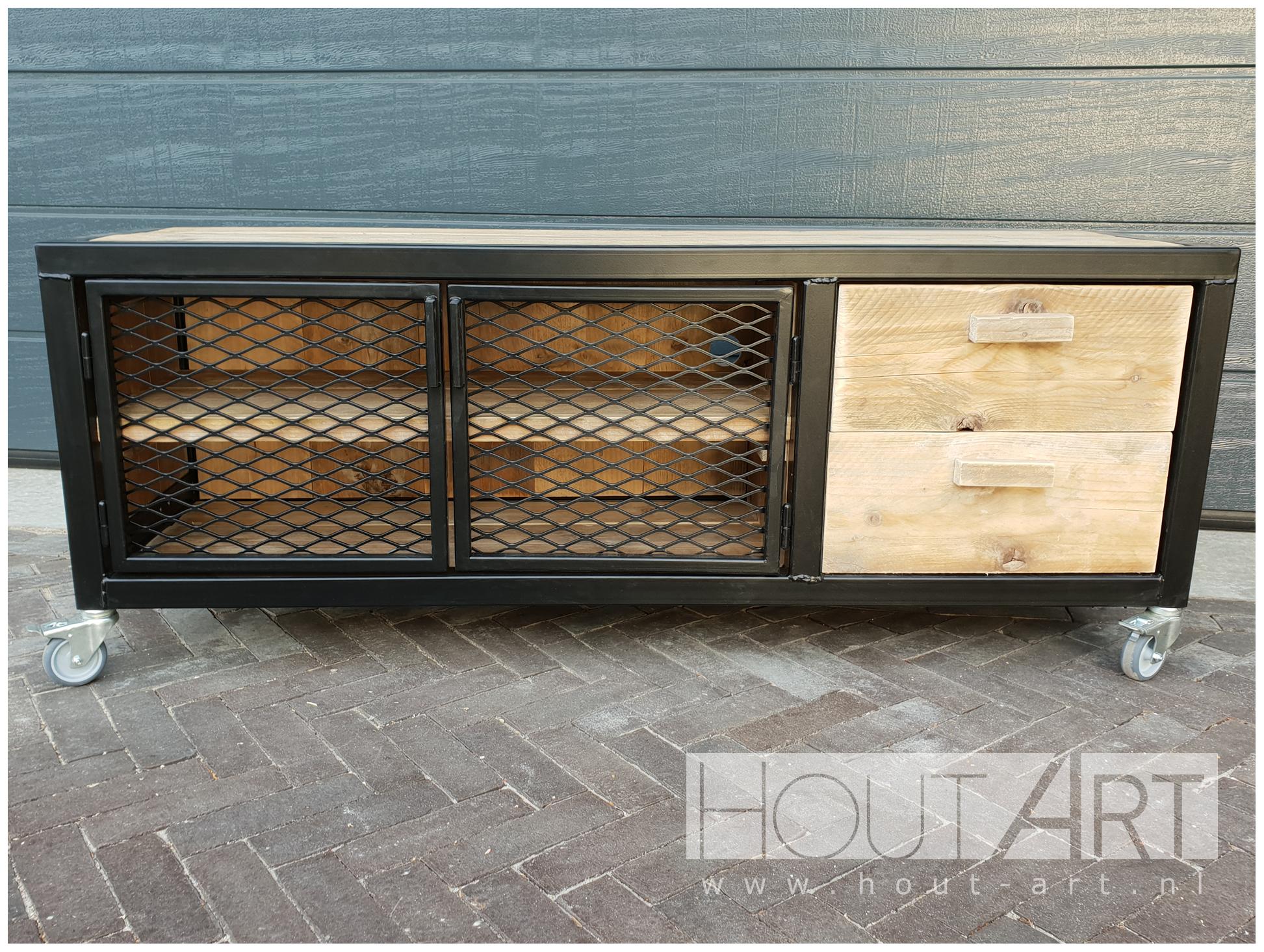 Luxe Tv Meubel : Tv meubels tv meubel stalen frame virango luxe